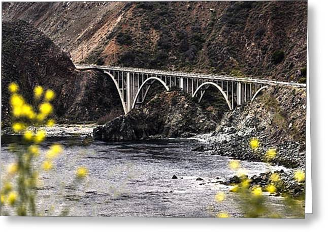 Big Sur California Greeting Cards - Bixby Bridge on PCH By Denise Dube Greeting Card by Denise Dube