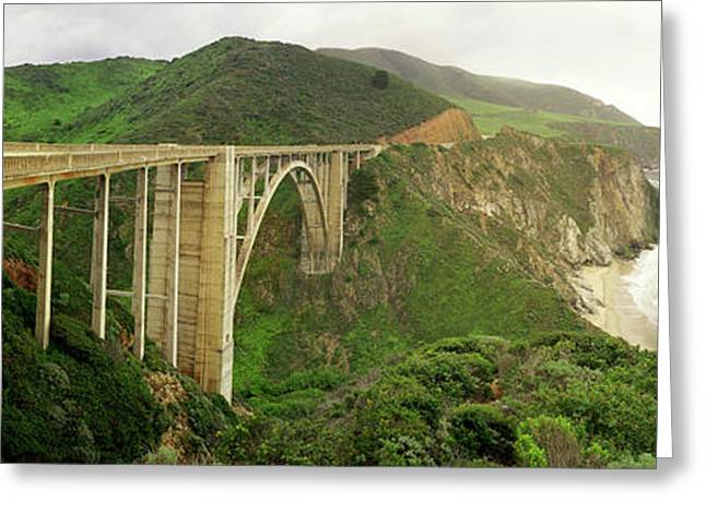 Bixby Bridge On The Big Sur Coast Greeting Card by Panoramic Images