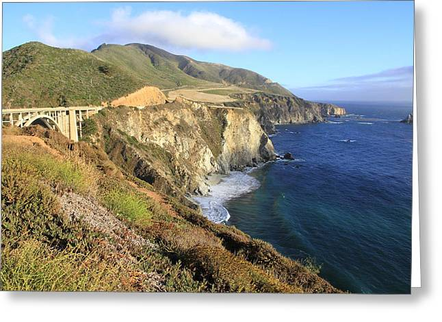 Bixby Bridge Greeting Cards - Bixby Bridge Over The Creek Greeting Card by Christiane Schulze Art And Photography