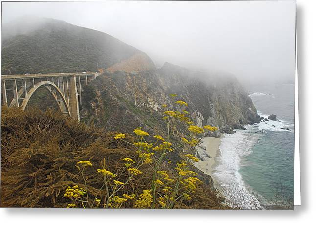 Pch Greeting Cards - Bixby Bridge   PCH   California Greeting Card by Willie Harper