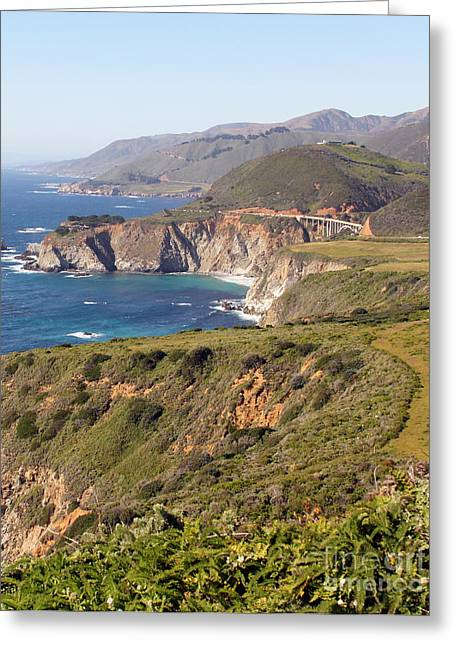 Bixby Greeting Cards - Bixby Creek Bridge  7484 b  Greeting Card by Jack Schultz