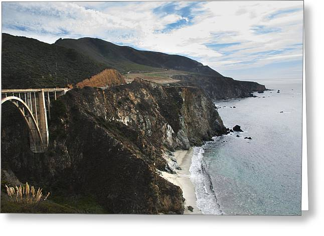 Recently Sold -  - Bixby Bridge Greeting Cards - Bixby Creek Bridge - Big Sur California Greeting Card by Kevin Bain