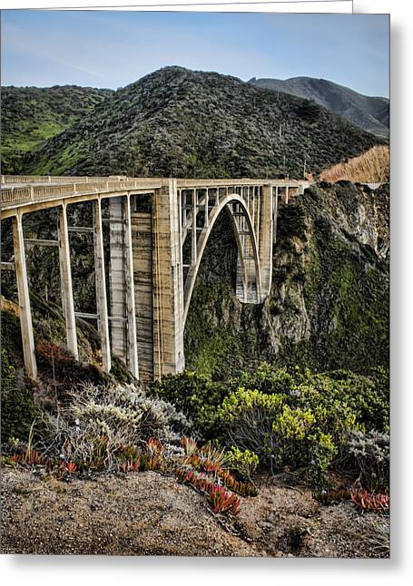 Bixby Greeting Cards - Bixby Creek Bridge Greeting Card by Heather Applegate
