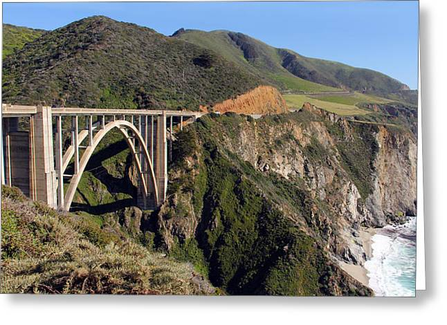 Bixby Greeting Cards - Bixby Creek Bridge Panorama 7496 97   Greeting Card by Jack Schultz