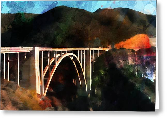 Big Sur California Mixed Media Greeting Cards - Bixby Creek Bridge Greeting Card by Robert Smith