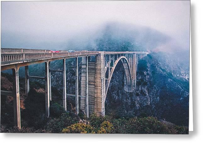 Bixby Bridge Greeting Cards - Bixby Creek Bridge Greeting Card by Shuwen Wu