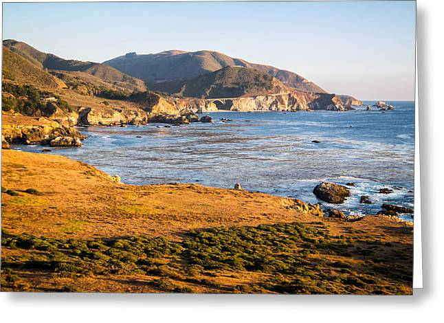 Bixby Bridge Greeting Cards - Bixby From A Distance Greeting Card by Wasim Muklashy