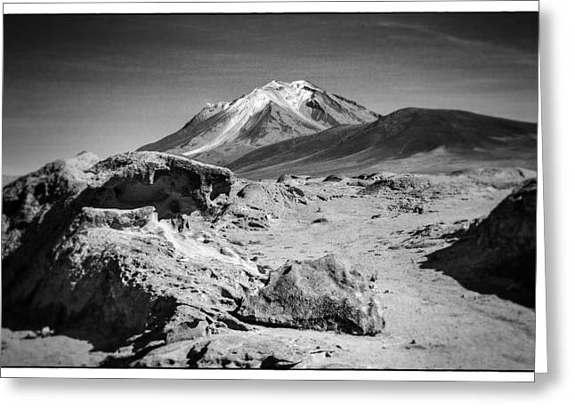 Bolivia Blog Greeting Cards - Bizarre Landscape Bolivia Black And White Select Focus Greeting Card by For Ninety One Days