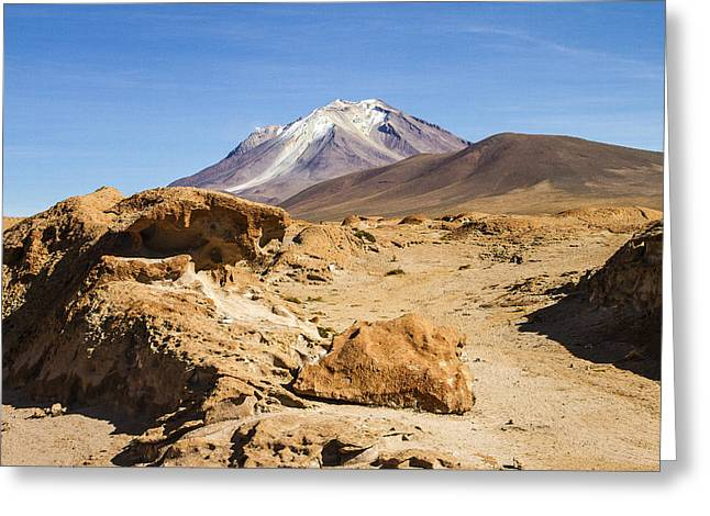 Bolivia Blog Greeting Cards - Bizarre Landscape Bolivia Greeting Card by For Ninety One Days