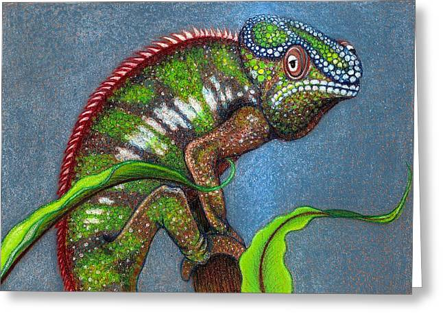Madagascar Drawings Greeting Cards - Bizz Greeting Card by Jo Prevost