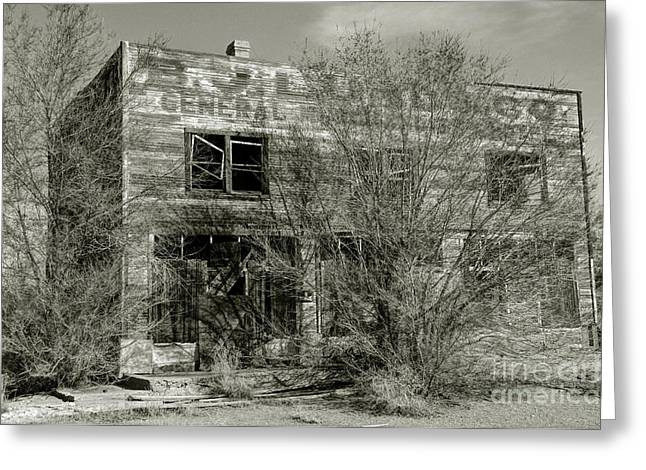 Lund Greeting Cards - B.J. Lund Company General Merchandise and Hotel  - Modena - Utah Greeting Card by Gary Whitton