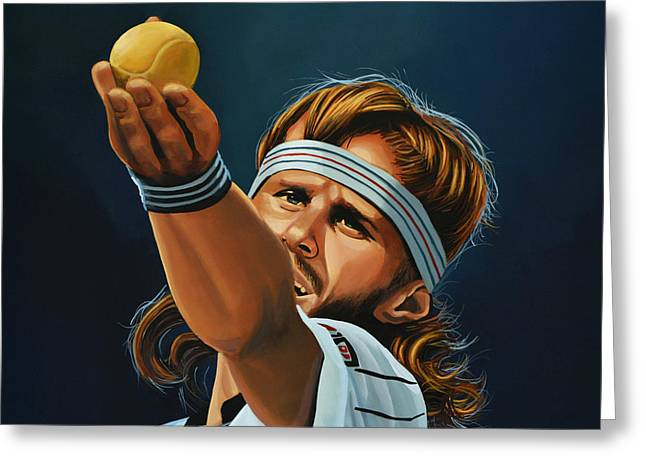 Us Open Greeting Cards - Bjorn Borg Greeting Card by Paul Meijering