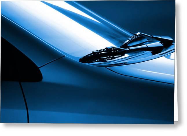 Black and Blue Cars Greeting Card by Carlos Caetano