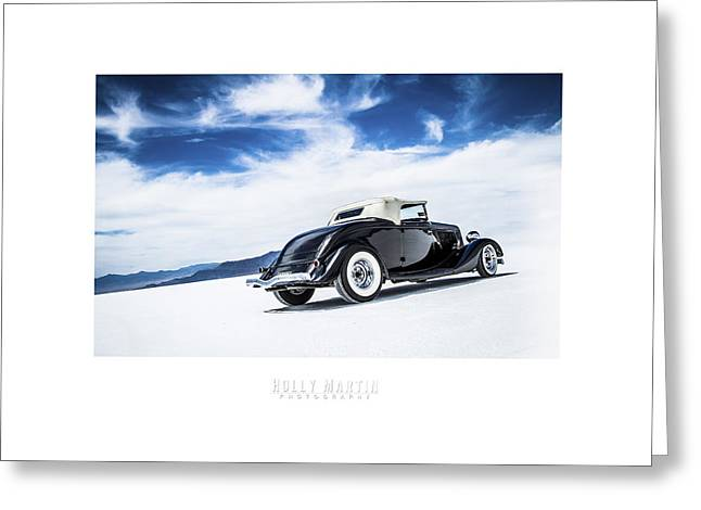 Salt Flat Images Greeting Cards - Black And Blue Greeting Card by Holly Martin