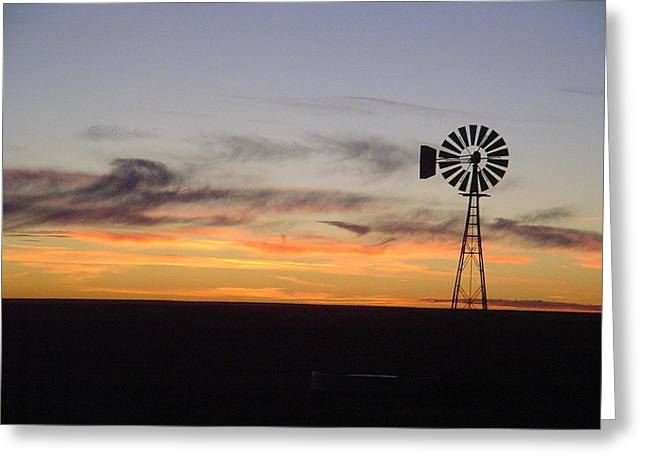 Western Pyrography Greeting Cards - Black and Gold Sunset Greeting Card by Cary Amos
