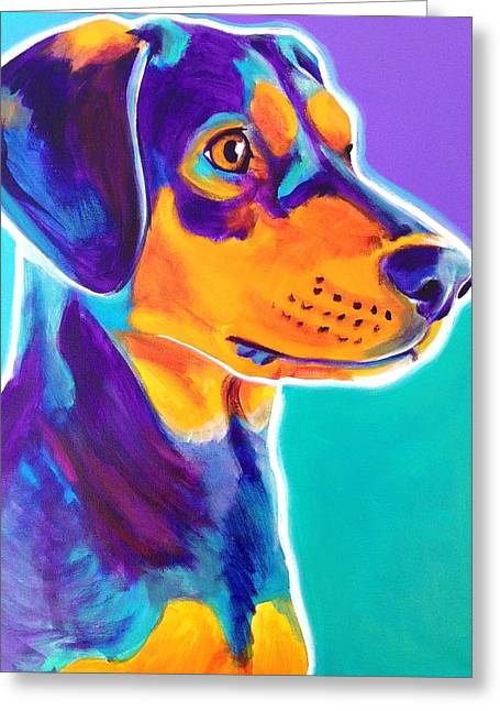 Black And Tan Greeting Cards - Black and Tan Coonhound - Charlie Greeting Card by Alicia VanNoy Call