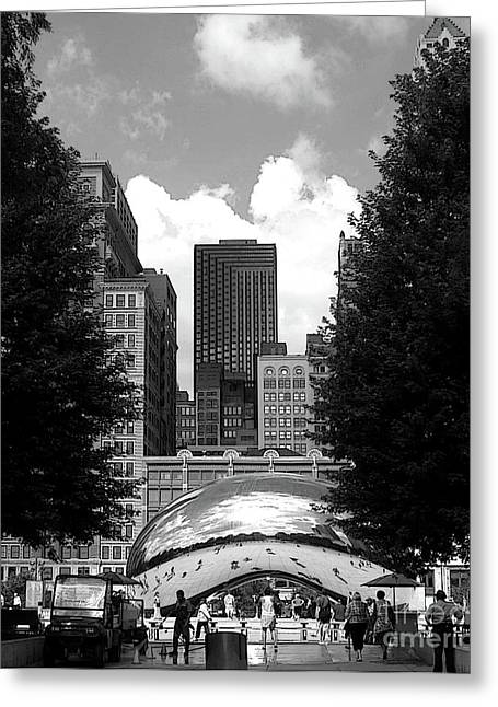 The Bean Greeting Cards - Black and White Bean Greeting Card by David Bearden