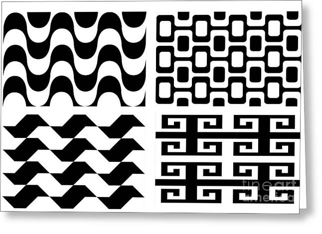Opt Greeting Cards - Black and White Greeting Card by Carla  Nichiata