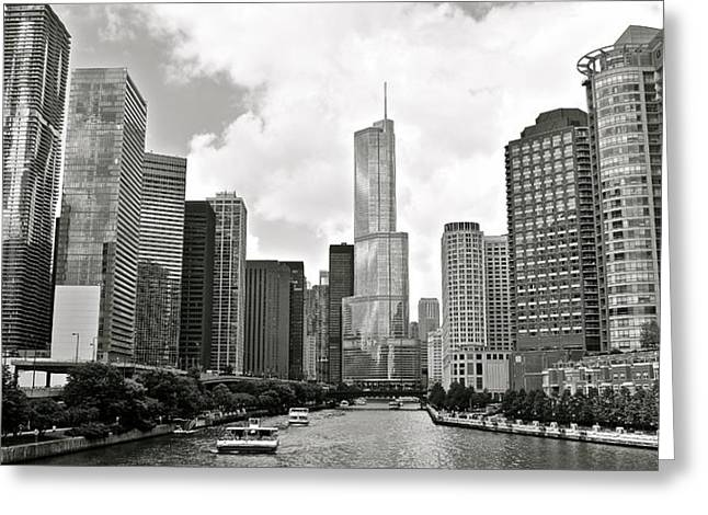 High Park Fire Greeting Cards - Black and White Chicago Greeting Card by Frozen in Time Fine Art Photography