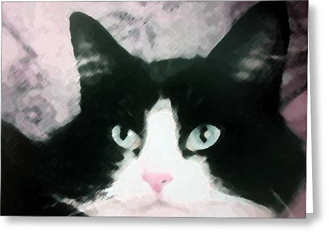 Black and White Greeting Card by Dennis Buckman
