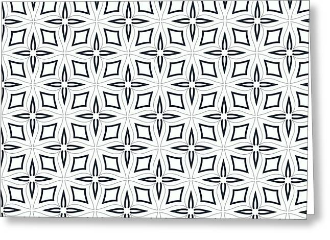 Black And White Designs Greeting Card by Savvycreative Designs