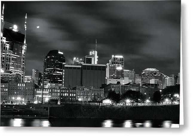 Nashville Greeting Cards - Black and White Nashville Greeting Card by Frozen in Time Fine Art Photography
