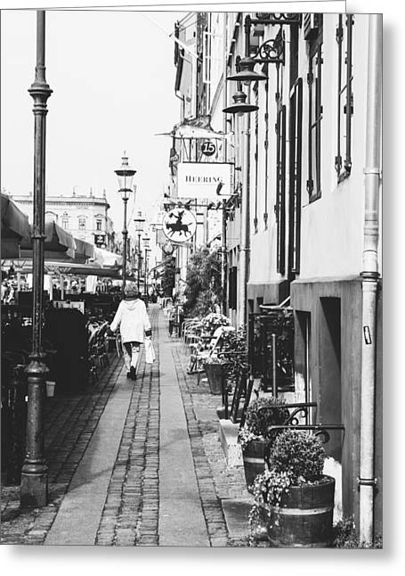 Black And White Nyhavn Greeting Card by Pati Photography