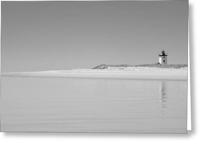 Ocean Art Photos Greeting Cards - Black and White Photography Isolated Lighthouse Greeting Card by Dapixara Art