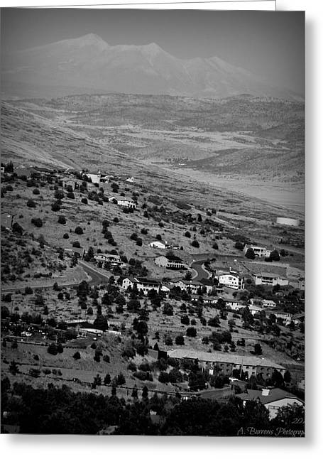 Prescott Greeting Cards - Black and White Prescott Views Greeting Card by Aaron Burrows