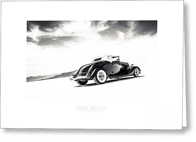 Salt Flat Images Greeting Cards - Black And White Salt Metal Greeting Card by Holly Martin
