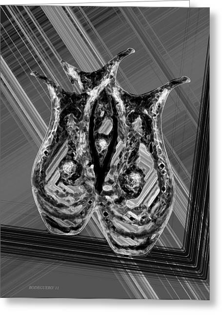 Best Sellers -  - Transparency Geometric Greeting Cards - Black and White Still Life Greeting Card by Mario  Perez