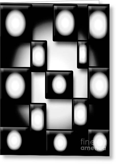 Graphics Framed Prints Greeting Cards - Black and White Unite  Greeting Card by Gayle Price Thomas