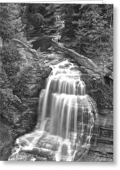 Cavern Greeting Cards - Black and White Water Greeting Card by Frozen in Time Fine Art Photography
