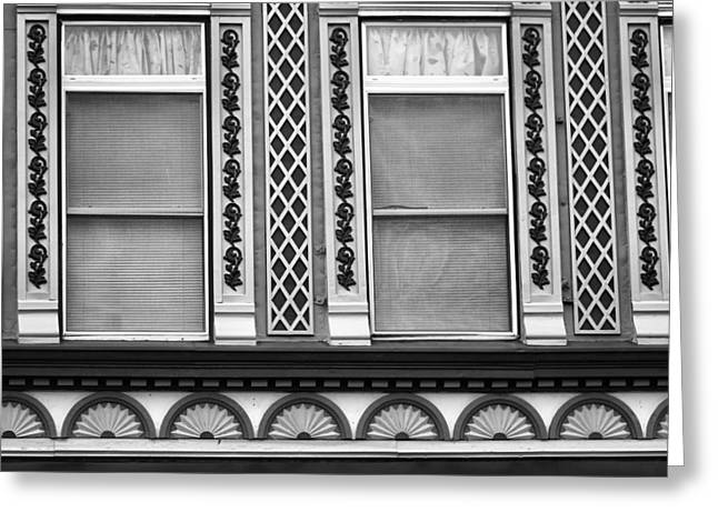 Indiana Photography Greeting Cards - Black And White Windows Greeting Card by Dan Sproul