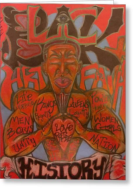 African American History Mixed Media Greeting Cards - Black Art Faith History Greeting Card by Robert Watson