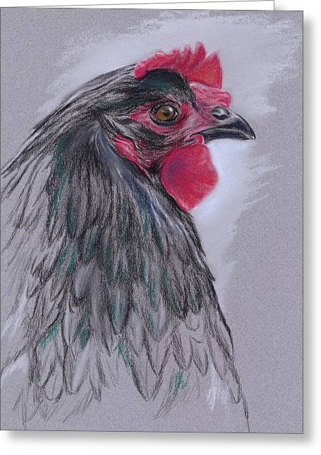 Black Australorp Hen Greeting Card by MM Anderson