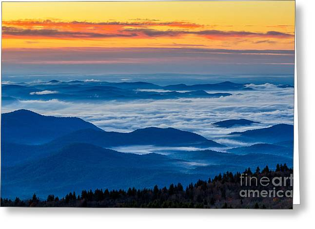 Pisgah Greeting Cards - Endless Layers Greeting Card by Anthony Heflin