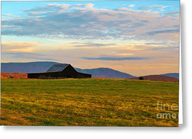 Tennessee Barn Greeting Cards - Black Barn Greeting Card by Keri West