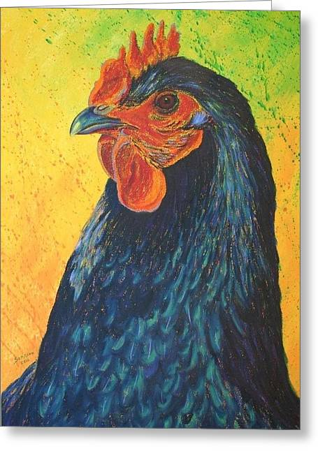 Splashy Paintings Greeting Cards - Black Betty Greeting Card by Cynthia Sampson