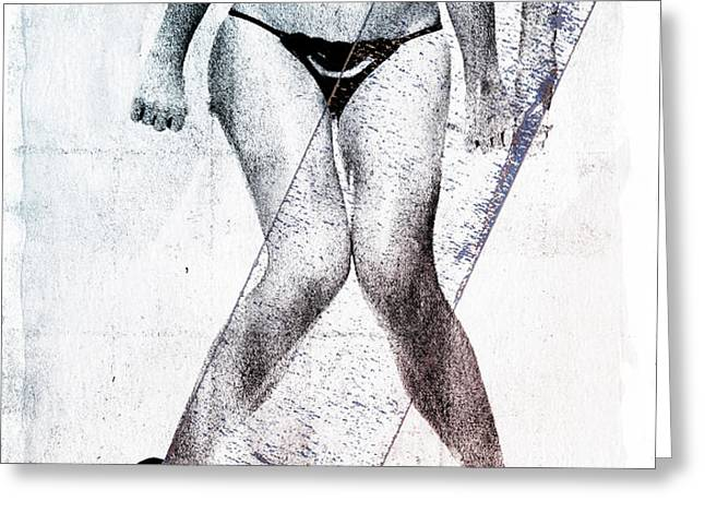 black bikini Greeting Card by David Ridley