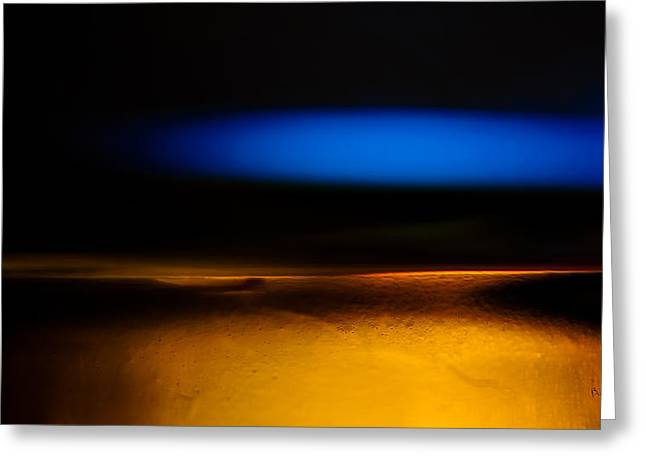 Black Blue Yellow Greeting Card by Bob Orsillo