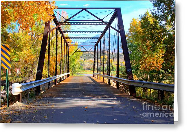 Winery Photography Greeting Cards - Black Bridge Greeting Card by Bob Hislop
