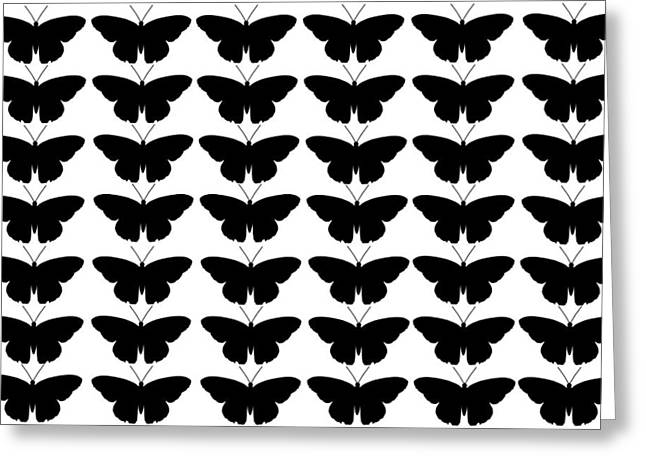 Spur On Greeting Cards - Black Butterflies Greeting Card by Chastity Hoff