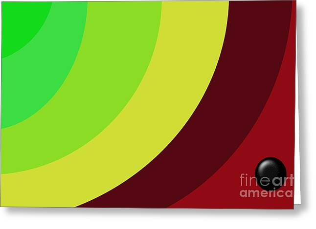 Installation Art Greeting Cards - Black Button Series Three Greeting Card by Tina M Wenger