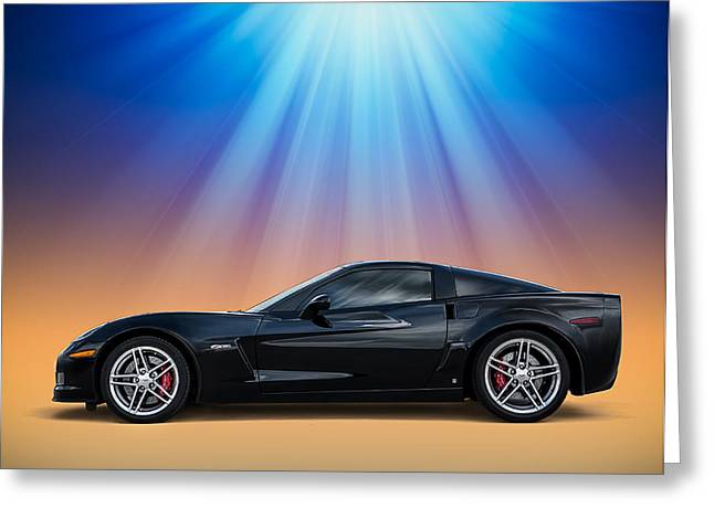 Black Greeting Cards - Black C6 Greeting Card by Douglas Pittman
