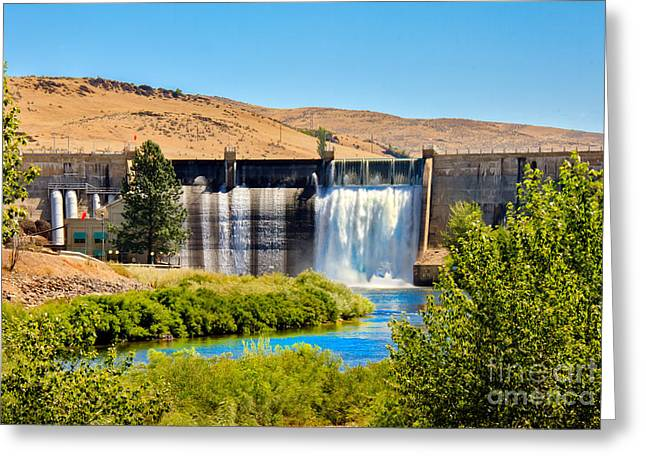 Spillways Greeting Cards - Black Canyon Dam Greeting Card by Robert Bales