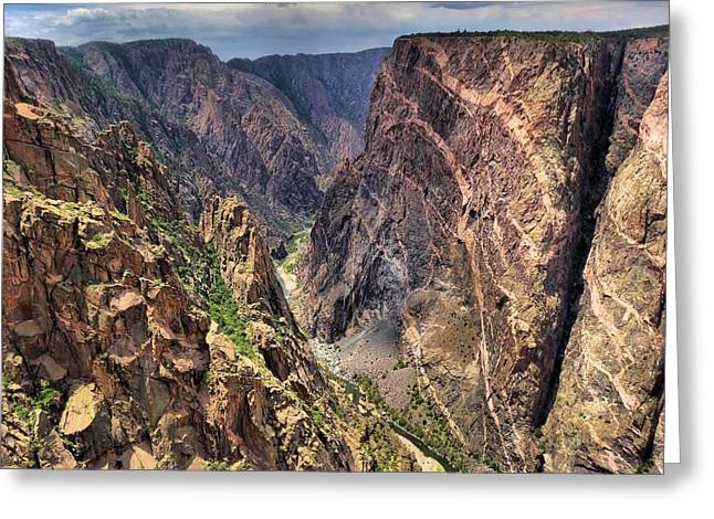 Deep Blue River Greeting Cards - Black Canyon Greeting Card by Dan Sproul