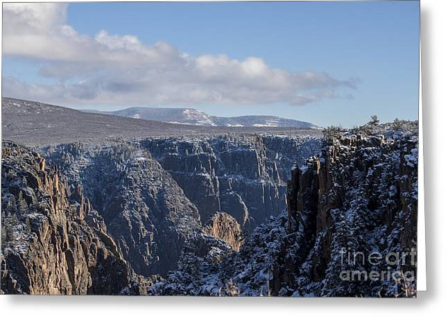 Black Painted Edges Greeting Cards - Black Canyon of the Gunnison-Cathedral Spires Greeting Card by Janice Rae Pariza