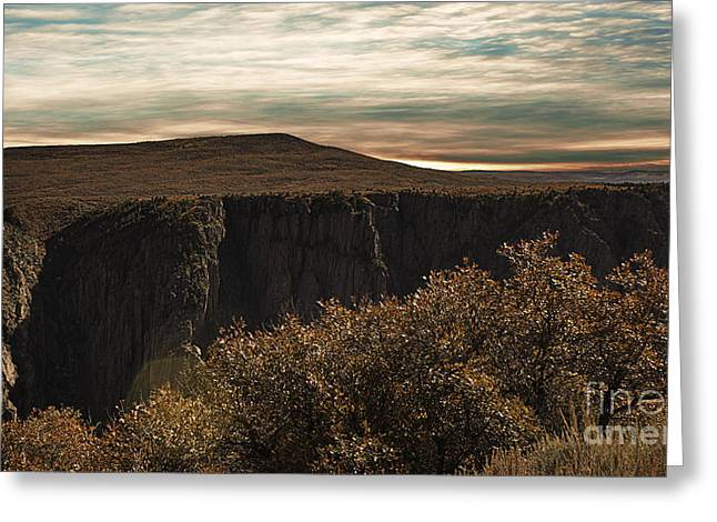 River View Greeting Cards - Black Canyon of the Gunnison Sunrise Greeting Card by Janice Rae Pariza