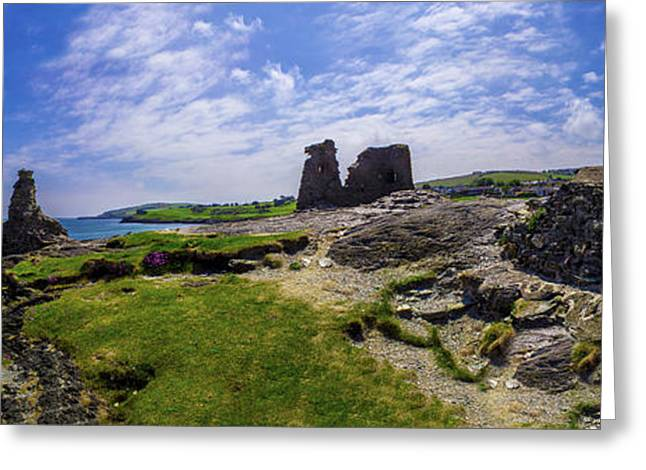 Black Top Greeting Cards - Black Castle Panorama Greeting Card by Mihai Medves